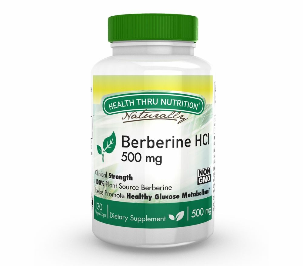Berberine HCl 500 mg (non GMO) (120 Vegicaps) Health Thru Nutrition