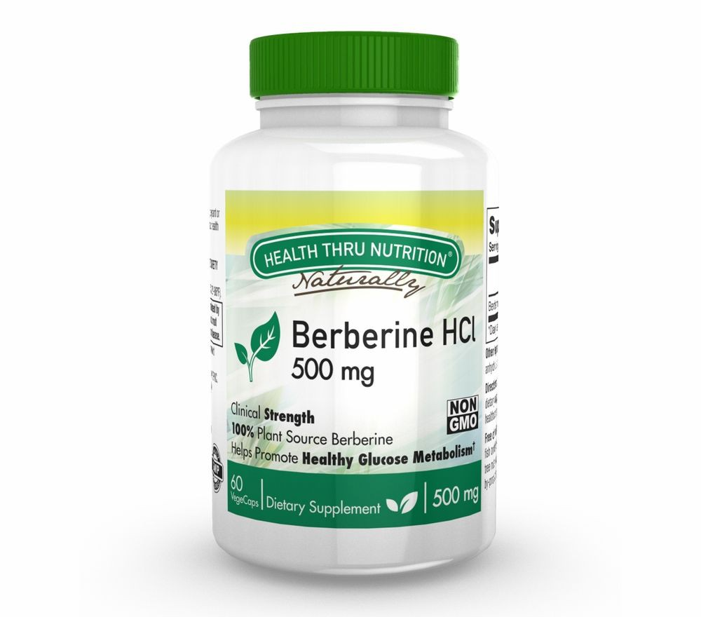 Berberine HCl 500 mg (non GMO) (60 Vegicaps) Health Thru Nutrition