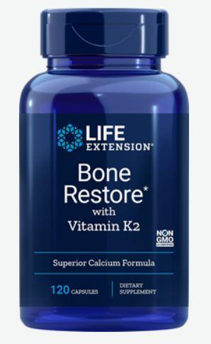 Bone Restore With Vitamin K2 (120 Capsules) Life Extension