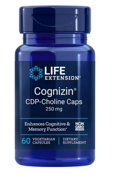 Cognizin CDP Choline Caps 250 mg (60 Veggie Capsules) Life Extension