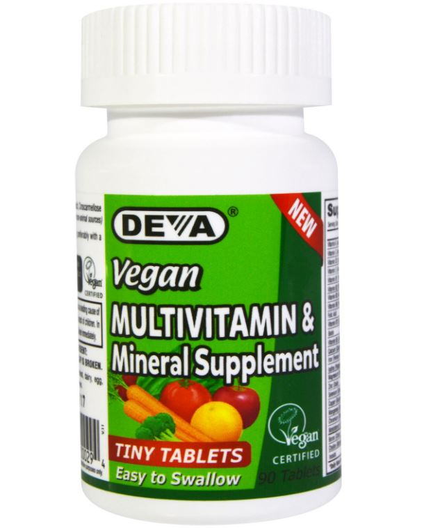 Deva Multivitamine Mineraal Supplement (90 kleine vegetarische tabletten) Deva