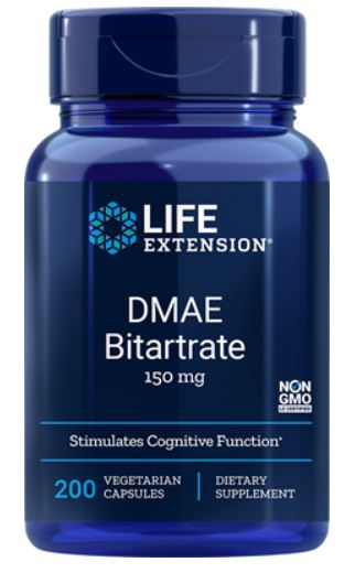 DMAE Bitartrate 150 mg (200 Veggie Capsules) Life Extension