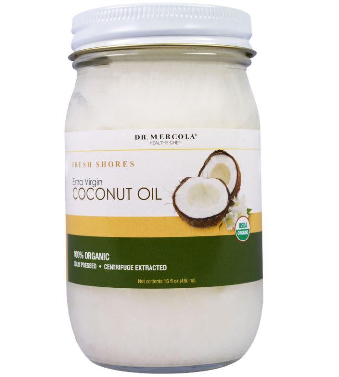 Biologische extra vierge kokosolie, Fresh Shores (475 ml) - Dr Mercola