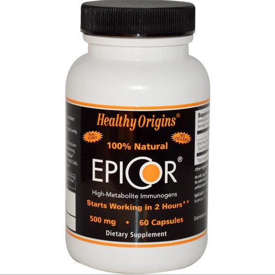 EpiCor 500 mg (60 Veggie Caps ) Healthy Origins