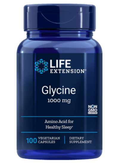 Glycine 1000 mg (100 vegetarische capsules) Life Extension