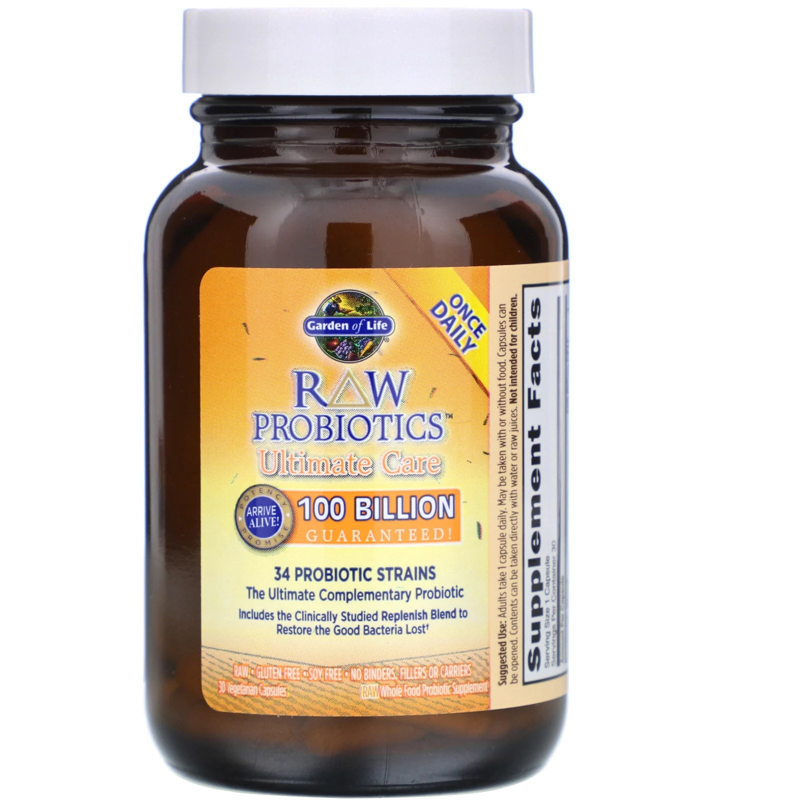 RAW Probiotics Ultimate Care (30 Vegetarian Capsules) Garden of Life