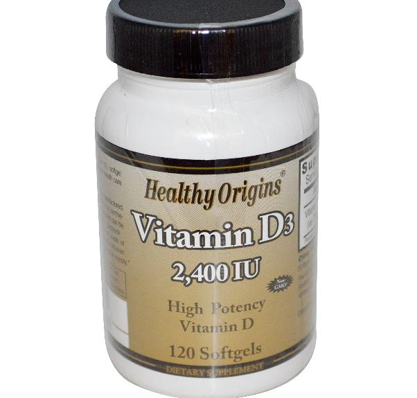 Vitamine D3 2400 IE (120 Softgels) Healthy Origins