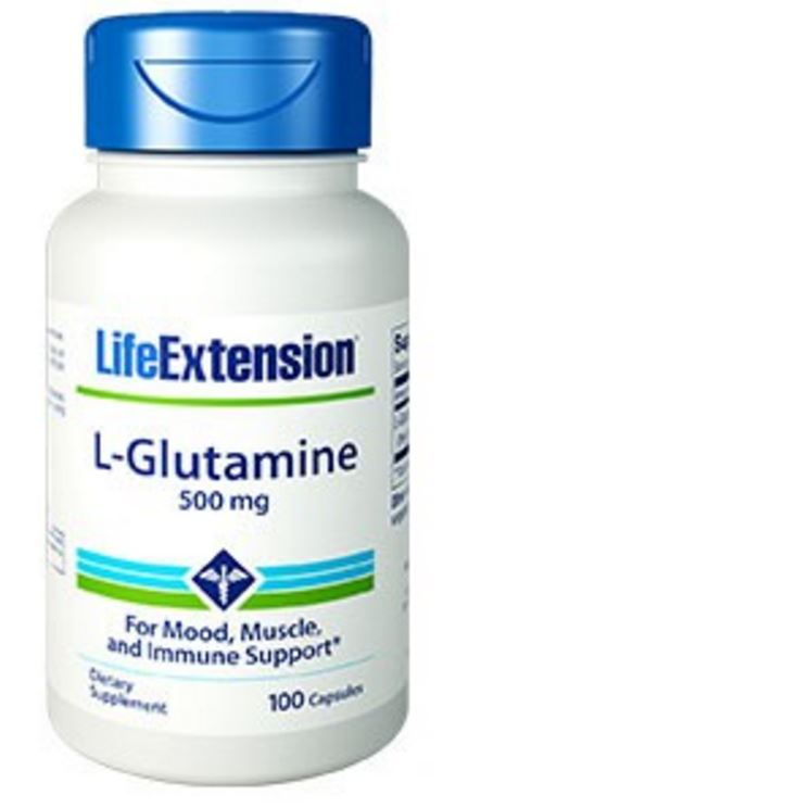 L Glutamine 500 mg 100 capsules Life Extension