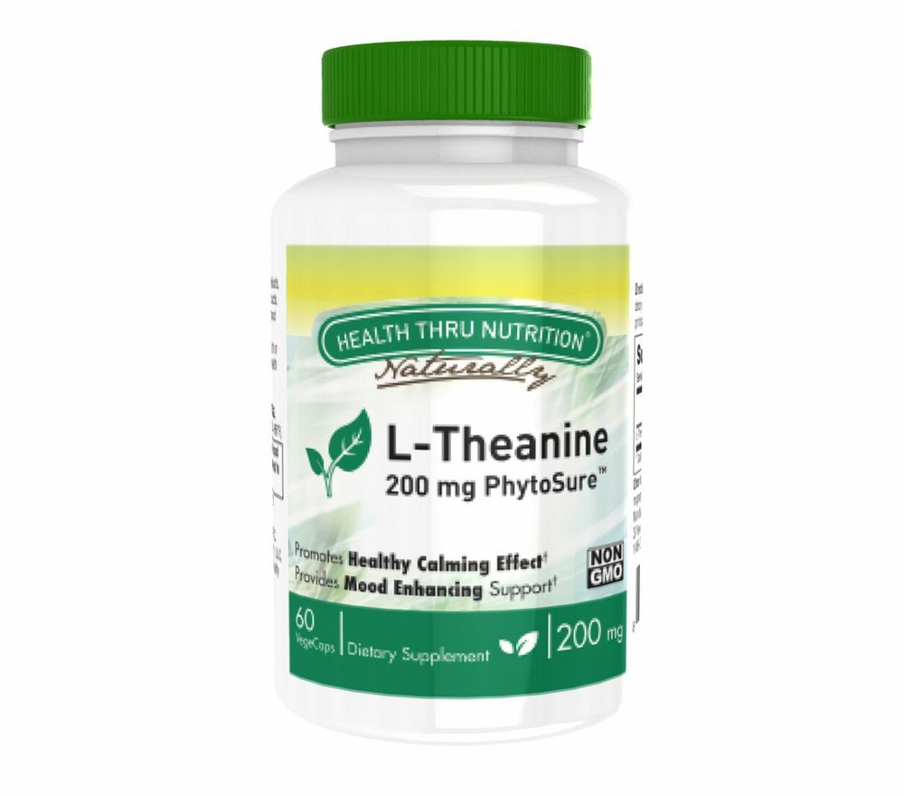 L Theanine (as PhytoSure™) 200 mg (non GMO) (60 Vegicaps) Health Thru Nutrition