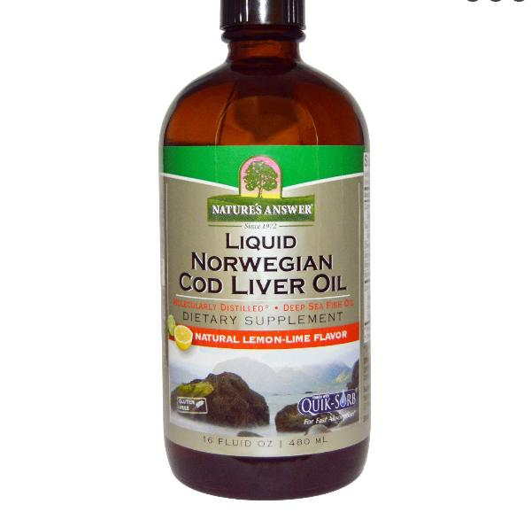 Noorse Vloeibare Levertraan Olie (480 ml) Nature apos s Answer