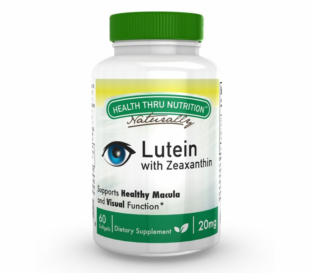 Lutein (as LuteMax® 2020) 20 mg (non GMO) (60 Softgels) Health Thru Nutrition
