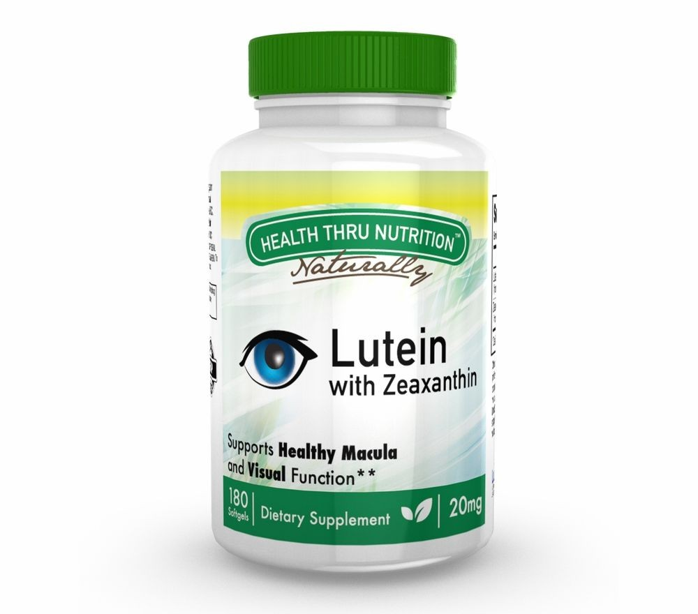 Lutein (as LuteMax® 2020) 20 mg (non GMO) (180 Softgels) Health Thru Nutrition
