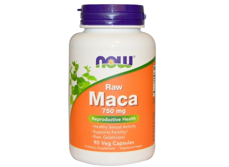 Maca Raw 750 mg (90 Veggie Caps) Now Foods