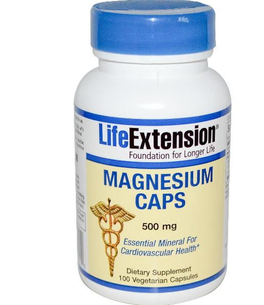 Magnesium Caps 500 mg (100 Veggie Caps ) Life Extension