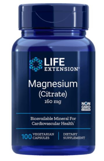 Magnesium (Citrate) 160 mg (100 Veggie Caps ) Life Extension