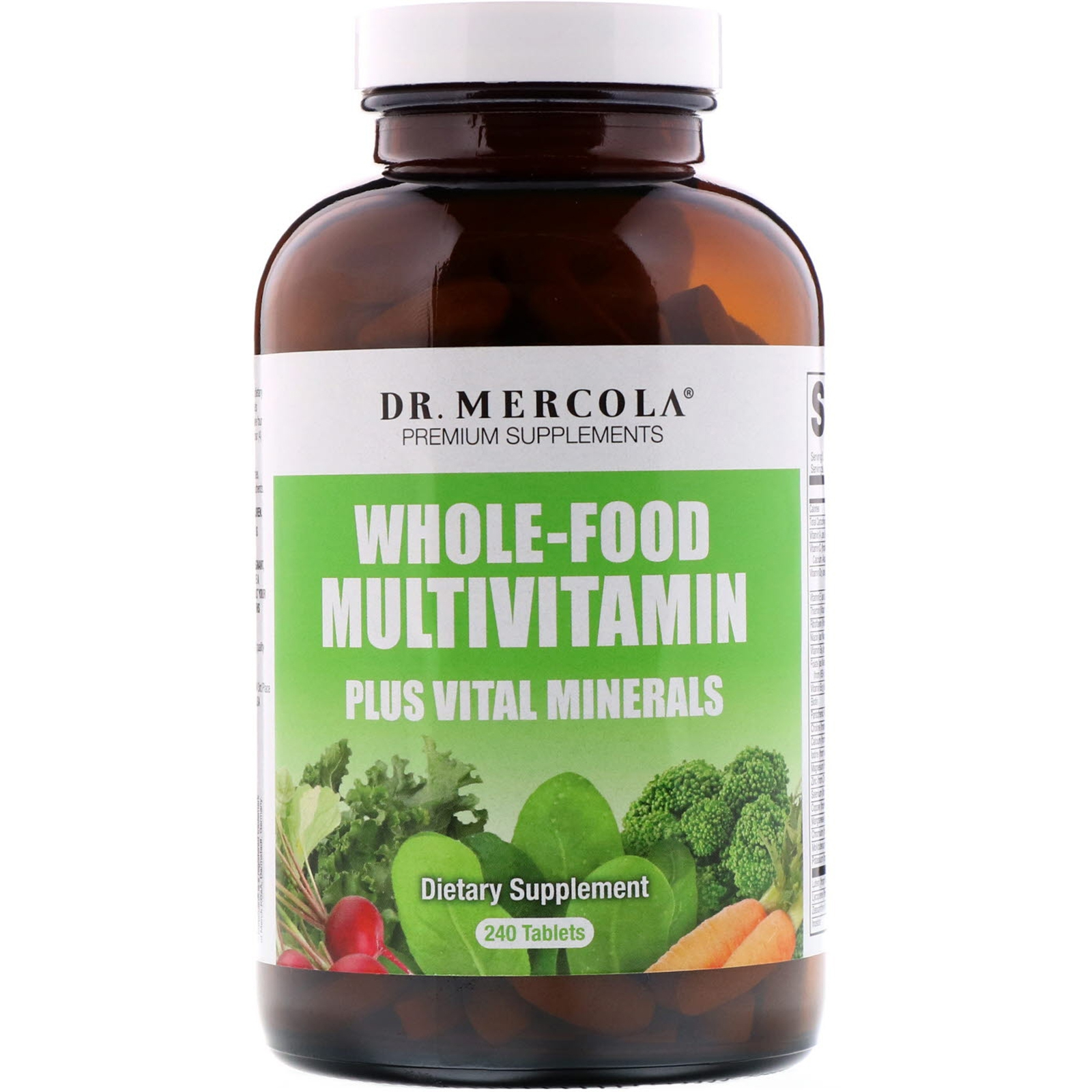 Whole Food Multivitamine Plus (240 Tabletten) Dr. Mercola