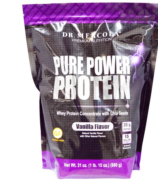 Pure Power Proteine, Vanilla smaak (880 g) Dr. Mercola