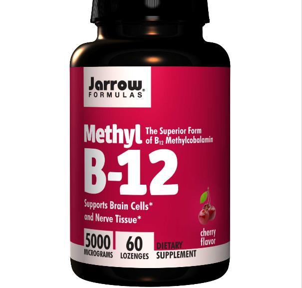 Methylcobalamine B12, 5000 mcg (60 Lozenges) Jarrow Formulas