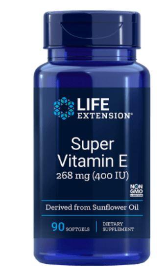 Natuurlijke vitamine E 400 Iu 90 gelcapsules Life Extension