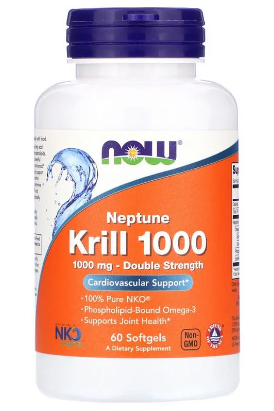 Neptune Krill Olie 1000mg (60 Softgels) Now Foods