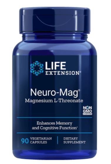 Neuro Mag Magnesium L Threonate (90 Veggie Caps ) Life Extension