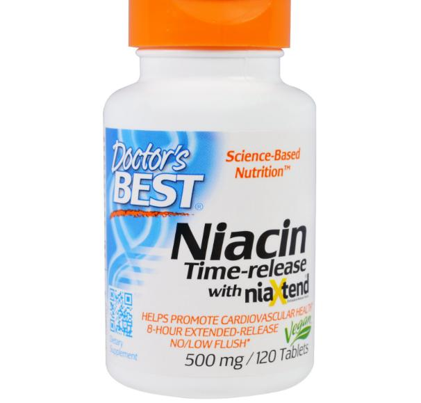 Real Niacine 500 mg (120 tabletten) Doctor apos s Best
