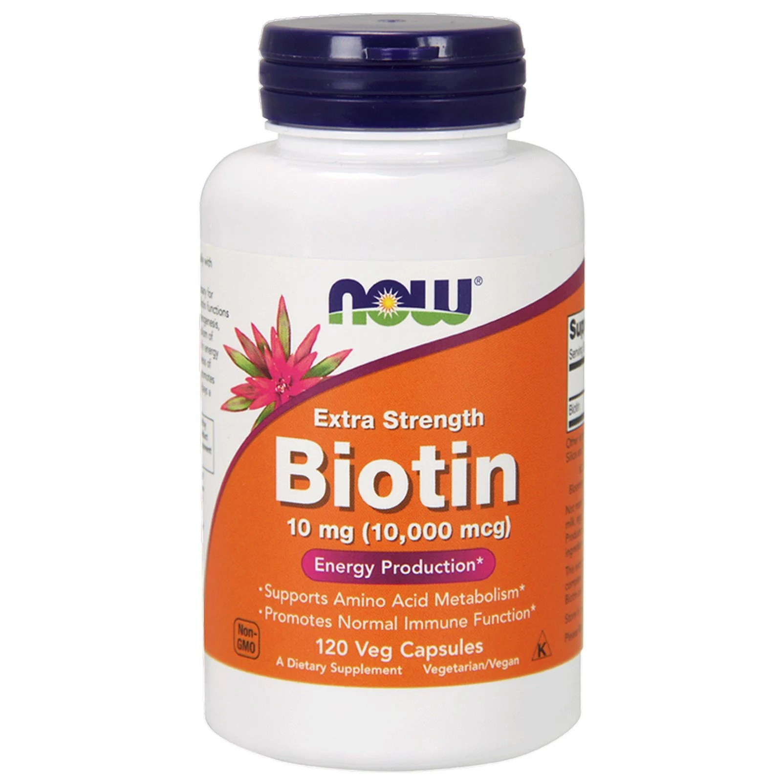 Biotin Extra Strength 10 mg (10.000 mcg) (120 Vegetarian Capsules) Now Foods