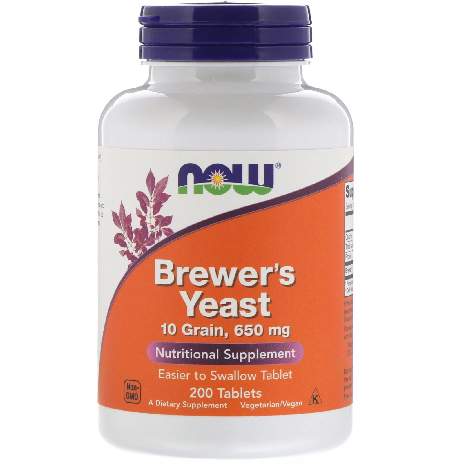Brewer apos s Yeast 650 mg (200 Tablets ) Now Foods