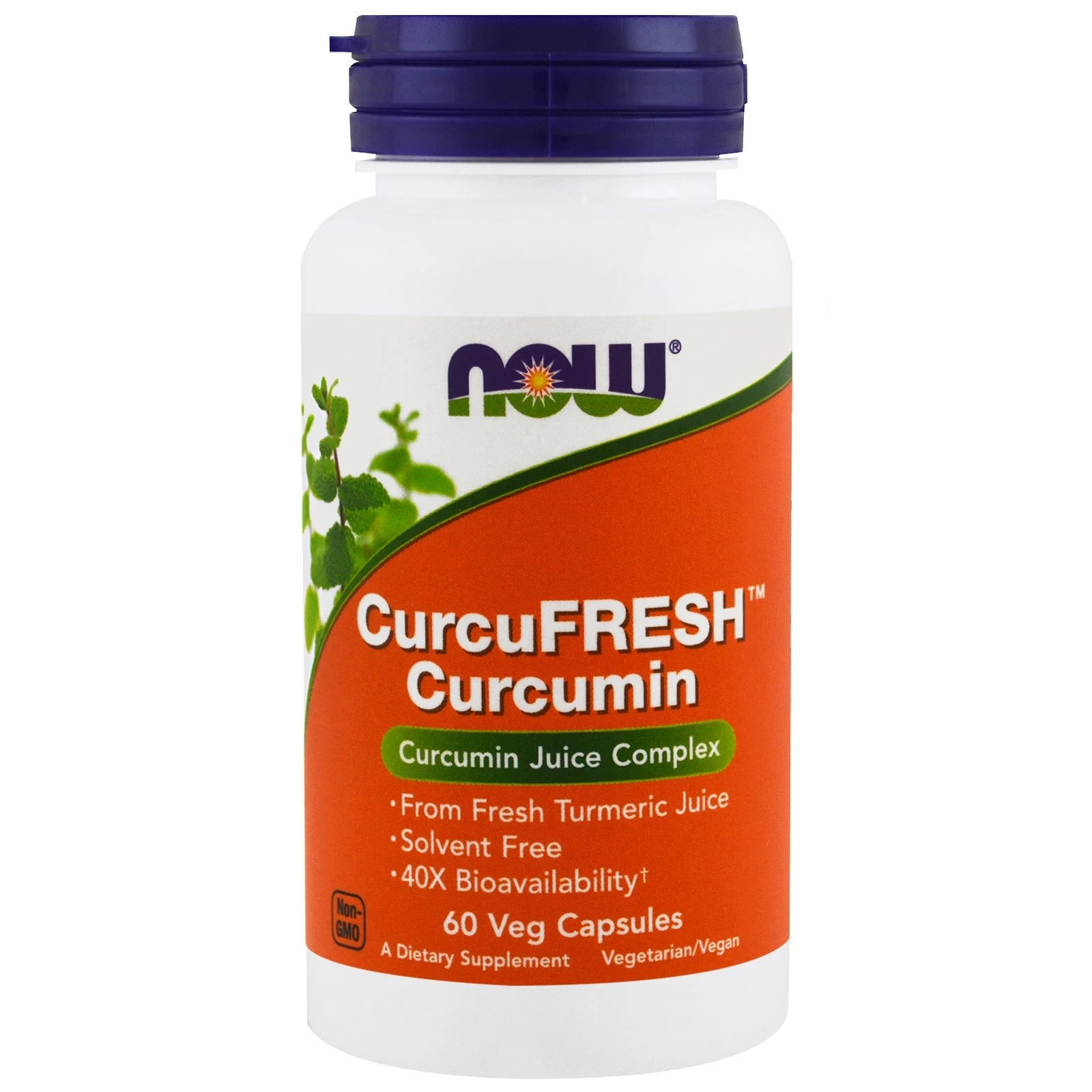 CurcuFresh Curcumin (60 Vegetarian Capsules) Now Foods