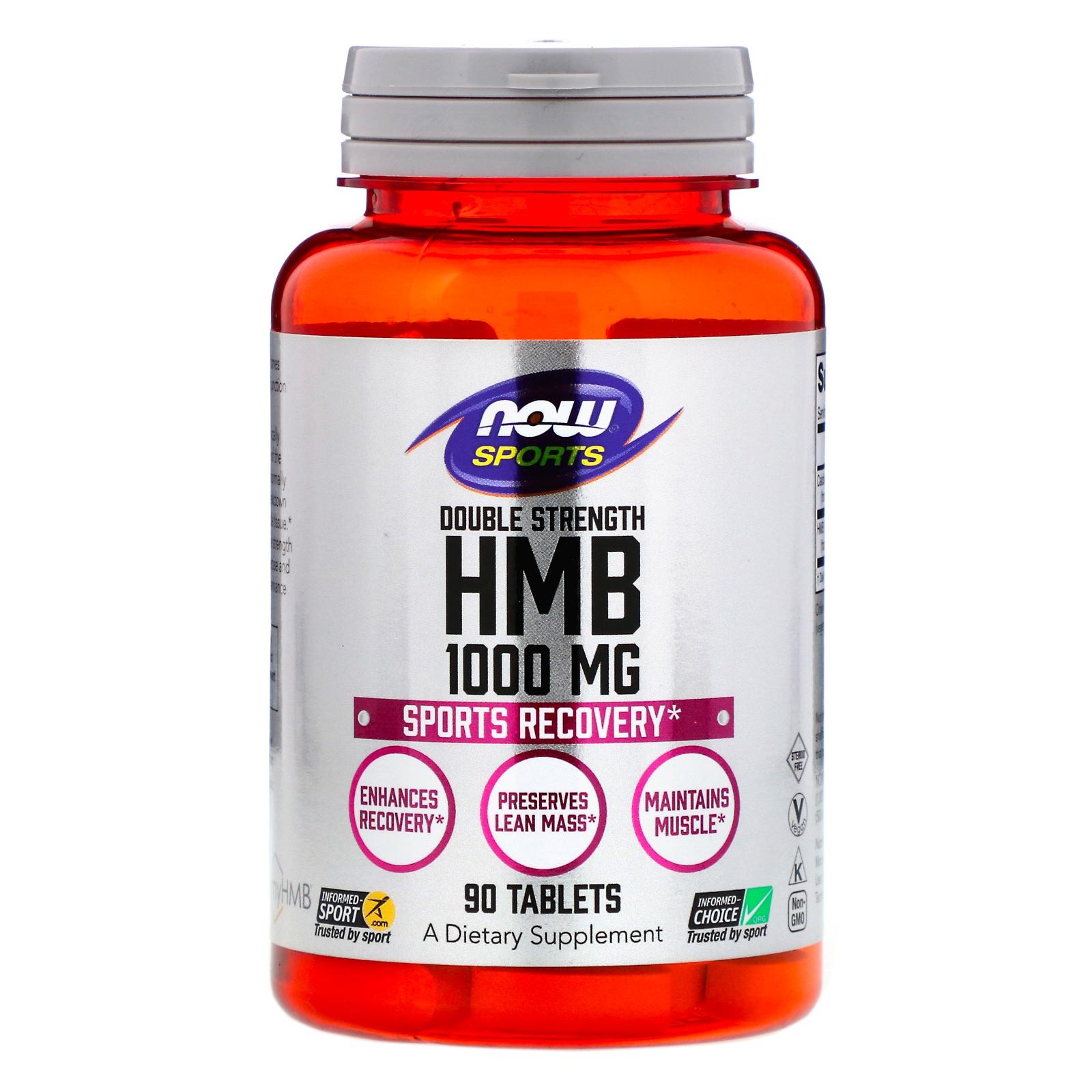 HMB - Double Strength 1.000 mg (90 tablets) - Now Foods | www.Sjopz.com |