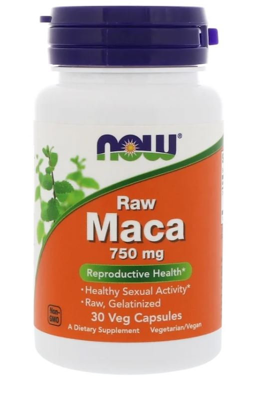 Raw Maca 750 mg (30 Vegetarian Capsules) Now Foods