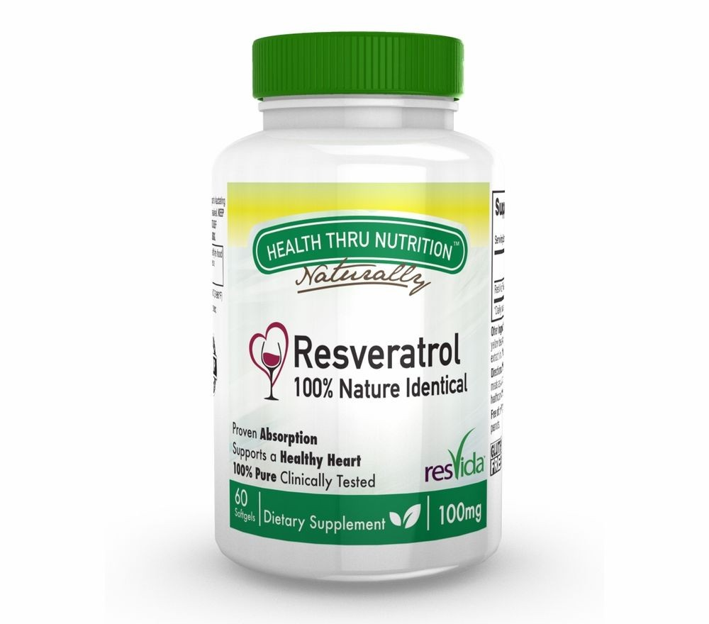 Resveratrol (ResVida) 100 mg (60 Softgels) Health Thru Nutrition