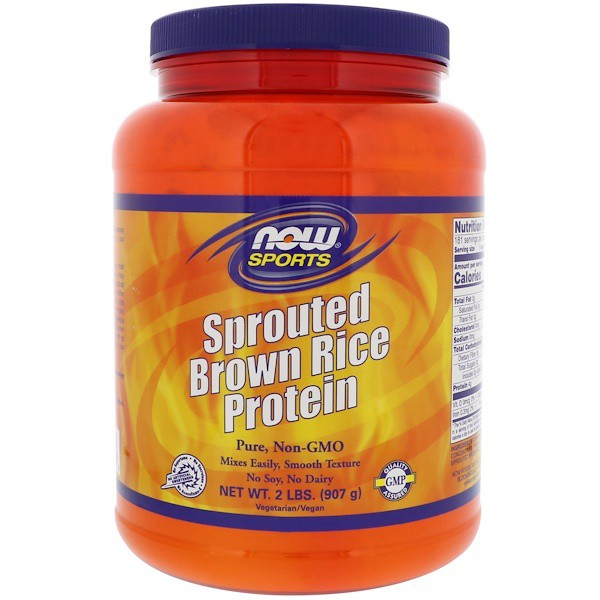 Sprouted Brown Rice Protein Unflavored (907 gram) Now Foods
