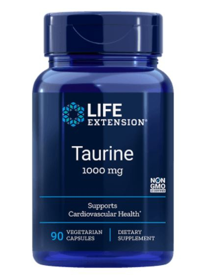 Taurine 1000 mg (90 vegetarian capsules) Life Extension