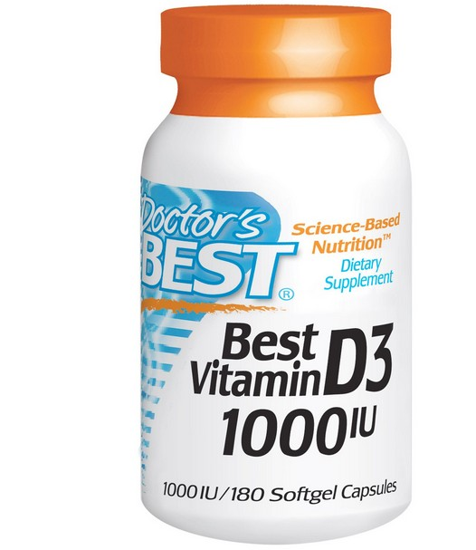 Doctors Best Best vitamine D3 1000 IU (180 gelcapsules) Doctor apos s Best