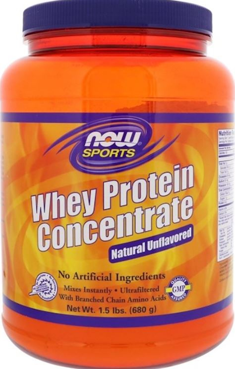 Whey Protein Concentrate Natural Unflavored (680 gram) Now Foods