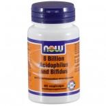 Now Foods, 8 miljard Acidophilus & Bifidus, 60 Veggie Caps
